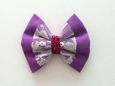 Sugar Plum Lace and Sparkle Hair Bow by MeOhMine on Etsy, $6.00