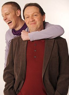 "Haha!  Laurence Fox and Kevin Whately of ""Inspector Lewis"" I love these guys!! Don't go!!"