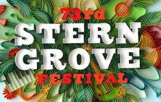 Yulia Brodskaya recently collaborated with MINE to produce this beautiful cut paper illustration for the 73rd Stern Grove Festival.