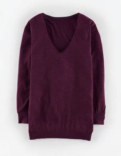 Relaxed Merino Silk Sweater WV046 Sweaters at Boden