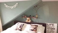 Mooi die kleur groen *slaapkamer