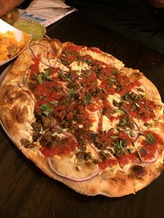 Vegan pizza at Blackbird