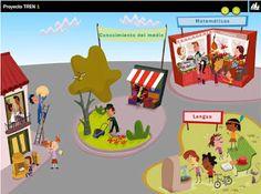 Recursos digitales, todas las áreas, Proyecto Tren 1º Primaria, Editorial La Galera