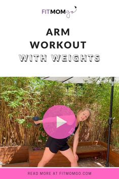 Arm Workout With Weights Video #armworkout #upperbodyworkout #workoutvideo Short Workouts, At Home Workouts, Cardio Workouts, Biceps And Triceps, Triceps Workout, Workout Videos, Workout Tips, Workout Routines, Post Pregnancy Workout