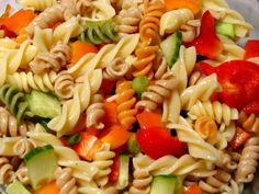 Mom's Eggless Pasta Salad. Try this one at your next BBQ. You will love it !! #pastasalad #eggless #eggfree #salad #pasta