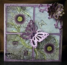 Heartfelt Creations | Butterfly And Asters