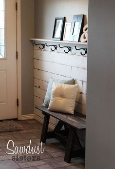 diy entry way plank wall, diy, foyer, wall decor