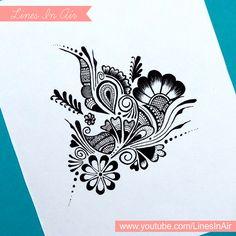 Random Abstract Henna Mehndi Design by LinesInAir.deviantart.com on @deviantART