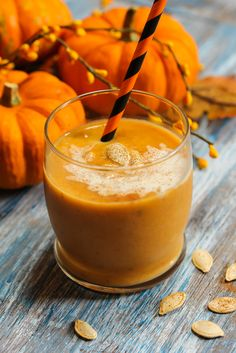 Here's our delicious low-fat pumpkin smoothie recipe – just right for your fall mornings. This smoothie gets its seasonal flavor from pumpkin pie spice. Its nutritional value comes from the yogurt, banana and pumpkin puree – which you can get from a can, or you can steam (or microwave) and mash some fresh pumpkin from your garden or local market.