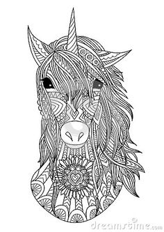 horse zentangle colorish coloring book app for adults mandala relax by goodsofttech. Black Bedroom Furniture Sets. Home Design Ideas