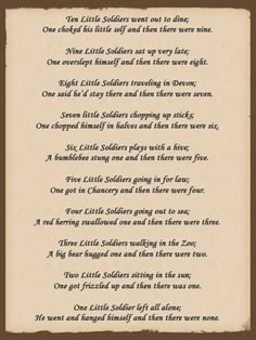 and then there were none poem - Hledat Googlem