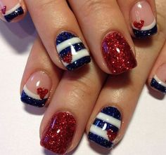 17 Fresh and Fashionable Red Nail Designs: #8. Stylish Red Glitter Nail Design