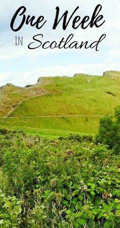 Driving across Scotland - one week itinerary.   Travel in Scotland   Road-Trip Ideas   Visit Scotland on a budget