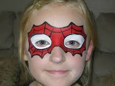 easy face paint - Spider-Man