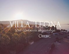 """Short film about a Croatian apartment house """"Villa Leona"""" and the city of Orebic. Working On Myself, Short Film, New Work, Villa, Behance, Neon Signs, City, Check, Cities"""