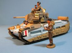 World War II British Army EA007 Matilda MK II Tank set - Made by King and Country Military Miniatures and Models. Factory made, hand assembled, painted and boxed in a padded decorative box. Excellent gift for the enthusiast.