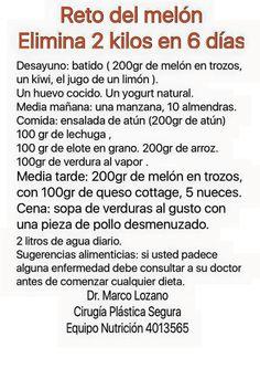 Dieta del melón Dr. Marco Lozano