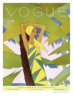 Vogue Cover - January 1927 Poster Print by Eduardo Garcia Benito at the Condé Nast Collection