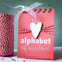 Alphabet of Our Love from iloveitall.etsy.com | Monika Wright
