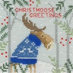 Counted Cross Stitch Kit OVEN MEETING IN THE WOODS