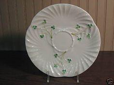 Belleek Irish Porcelain Swirl Pattern Plate GR Mark | eBay