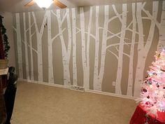 Tree Wall Murals if we ever live in a place for more than 3 years totally doing