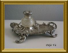 Antique silver inkwell, sold. www.dejavu.marktplaza.nl