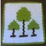 Ağaç desenli lif #crochet #knit #knitting #örgü #washcloth