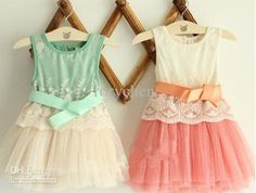 Wholesale Lady girl dress/Sleeveless baby girl dress with bowknot/Beauty patterns cotton with yam skirt/Lovely, Free shipping, $7.94-10.94/Piece   DHgate