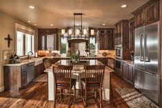 Rustic House Plans, Cottage Style House Plans, Craftsman Style House Plans, Craftsman Style Kitchens, Rustic Cabin Kitchens, Cabin Style Homes, Rustic Houses, Rustic Cafe, Master Suite