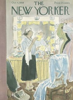 Perry Barlow : Cover art for The New Yorker 1755 - 4 October 1958