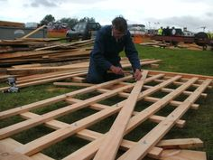 Gate making by Gayle Mill at the Masham Steam Rally in July 2011.