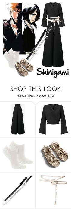 """Bleach's Shinigami cosplay"" by gaiain ❤ liked on Polyvore featuring Vika Gazinskaya, Miss Selfridge, Fox River and Leka"
