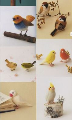 Needle Wool Felt Birds Japanese Craft Book by PinkNelie on Etsy