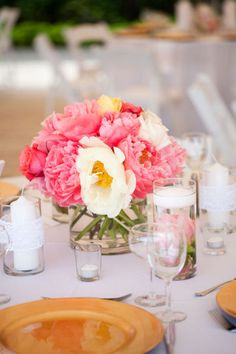 Coral Flower Arrangement  Michele M. Waite Photography