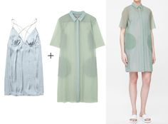 What to Wear Under Sheer Summer Clothing - The Problem: A Translucent Shirt Dress from InStyle.com