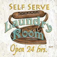 Self Serve Laundry Painting  - Self Serve Laundry Fine Art Print