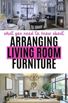 Learn to make the best use of your space with these furniture arrangement tips and living room layouts...even if it has a fireplace and a TV. #fromhousetohome #livingroomlayouts #livingroom #homedecorideas  #decoratingtips