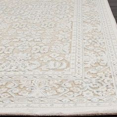 hand-loomed tone-on-tone otero floral wool area rug (9' x 12') by