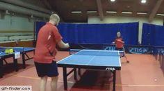 Amazing ping pong shot