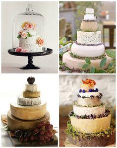 bolos de Casamento Feitos com rodas de queijo evantine blogue de projeto