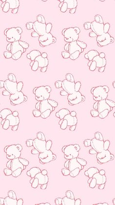 Cute 🐻 Cute Pastel Wallpaper, Soft Wallpaper, Cute Patterns Wallpaper, Cute Anime Wallpaper, Wallpaper Iphone Cute, Cute Wallpaper Backgrounds, Cute Cartoon Wallpapers, Illustration, Pink Aesthetic