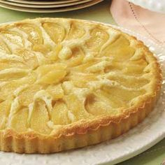 Buttery Almond Pear Cake Recipe -Pears and almonds make a mouthwatering match in… Pear Recipes, Cake Recipes, Dessert Recipes, Pumpkin Recipes, Dinner Recipes, Just Desserts, Delicious Desserts, Yummy Treats, Sweet Treats