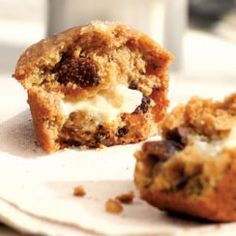Honey- & Goat Cheese-Filled Fig Muffins Recipe from Eating Well