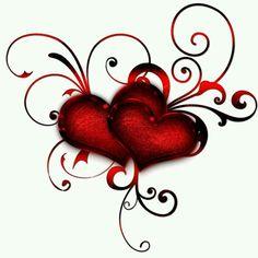"Photo from album ""Валентинки"" on Yandex. Illustration Tattoo, Heart Artwork, Geniale Tattoos, Heart Wallpaper, I Love Heart, Diy Tattoo, Body Art Tattoos, Heart Shapes, Coloring Pages"