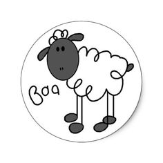 Sheep Stick Figure Sticker