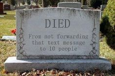 Oh God this made me laugh, I always wondered who died from those things...