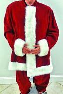 VINTAGE CUSTOM HANDMADE SANTA CLAUS SUIT CHRISTMAS COSTUME JACKET & PANTS  XXL