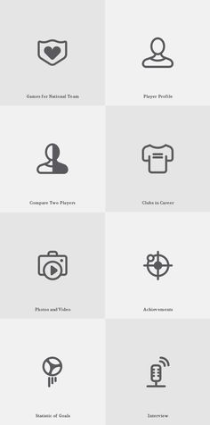 Free Game Icons by s-pov , via Behance