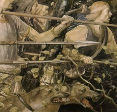 Alan Lee ~ from Culhwch and Olwen ~ The Mabinogion ~ Medieval Welsh Tales translated by Gwyn Jones and Thomas Jones ~ Dragon's Dream ~ 1982